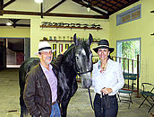 Marcelo and Sophia de Oliveira with one of their prized Haras Maripa two year olds.